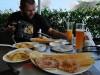 Arabisches Frühstück im Bikerscafe