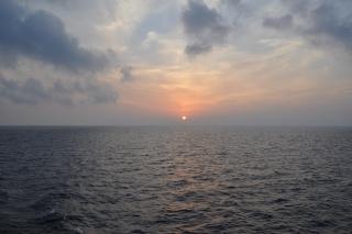 sunrise over the persian gulf