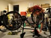 Peter repairs Yen's bike